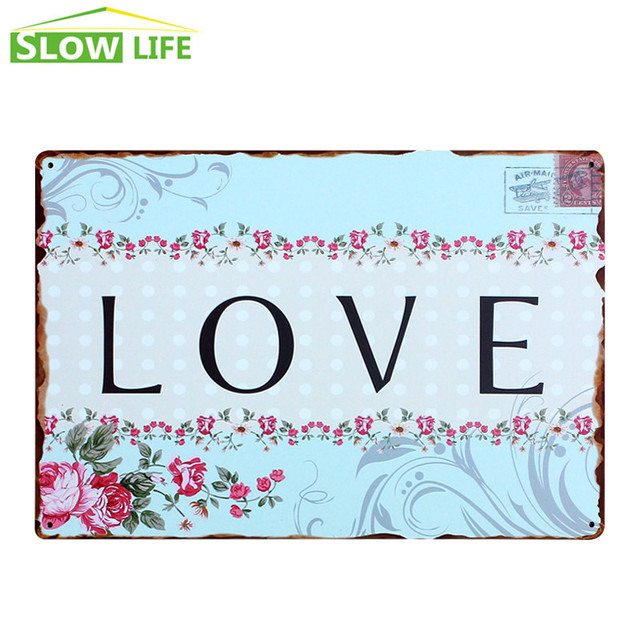 Wholesale Love Metal Tin Sign Family House Wall Decor Metal Sign Gorgeous Wholesale Home Decor Signs