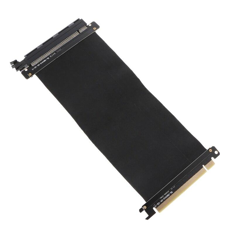 Nova PCI Express 16x e Riser Cartão Flexível Extensão Do Cartão Do Cabo Adaptador de Porta de Alta Velocidade quente