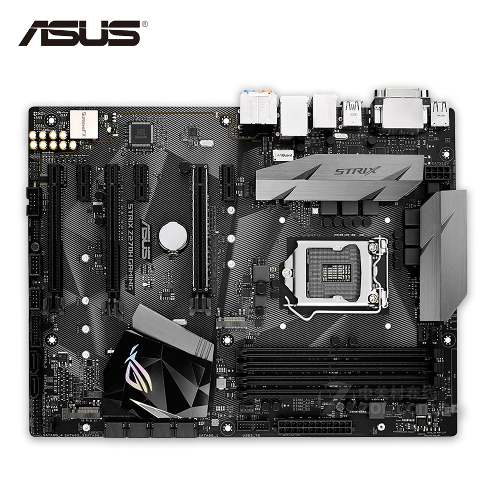цена Asus ROG STRIX Z270H GAMING Original New Desktop Motherboard Z270 Socket LGA 1151 i7 i5 i3 DDR4 64G SATA3 USB3.1 ATX