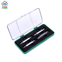 High Quality 4pcs Double side HSS Damaged Screw Extractor Set Broken Rusted Stripped Screw drill Tools and Bolt Remover