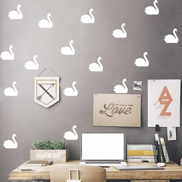 multi color animals swan art decor vinyl diy wall stickers nursery