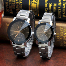 Classy Quartz Watches For Lovers Black Steel Minimalist Crea