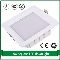1 Piece Recessed 5W 7W 9W Square LED Down Lighting Super Thin 110x110mm Cutout High Brightness