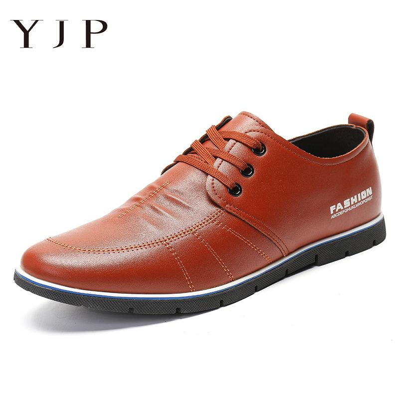 YJP 2019 Men  Casual Leather Shoes Summer Microfiber Soft Sole Comfy Business MaleAdult Brand Flat Footwear Comfortable Shoes Fo