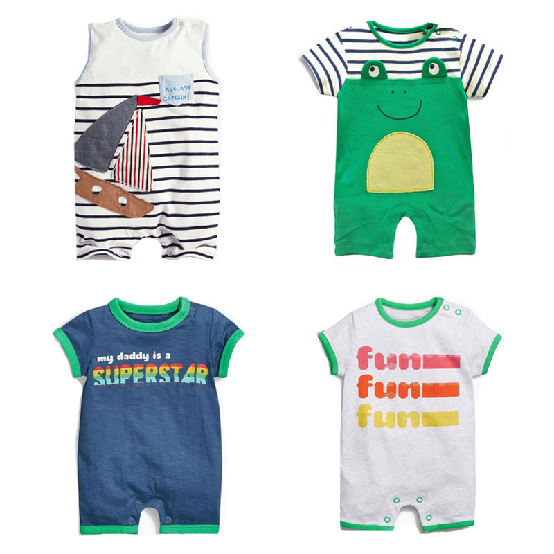 81dc1b221b2b New 2018 Summer 100% Cotton Ropa Bebe Brand Newborn Baby Boys ...