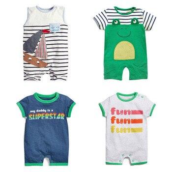 c865ea902 Nuevo 2019 verano 100% algodón Ropa Bebe marca bebé recién nacido Ropa de  niños enredaderas monos mamelucos de manga corta Ropa de bebé niños