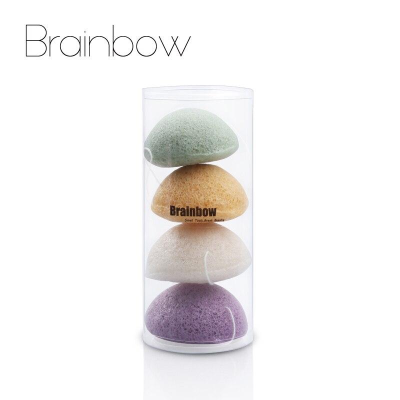 Brainbow 4pieces/Box Dry Konjac Sponge