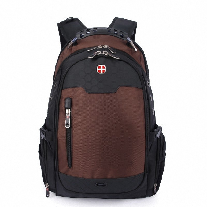 Fashion Swiss Backpack Woman Man Large Size Travel Bag Light Canvas Nylon Waterproof Notebook Computer Rucksack College Business