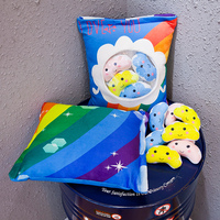 candice guo plush toy cartoon pillow stuffed doll cloud Rainbow small love you package cushion pocket 6pcs/bag birthday gift 1pc