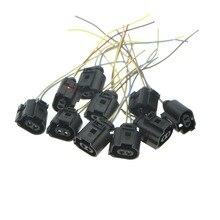Cheap price 10Pcs Handbrake Motor Socket Bracket Connection Cable For VW PASSTA B6 B7 CC TIGUAN SHARAN A6 A4 Q5 Q3 1J0973722A 1J0 973 722 A