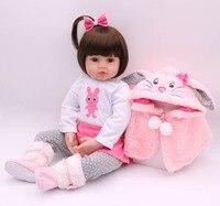 48 см bebe Кукла реборн Детская кукла ручной работы Силиконовая Очаровательная reborn Малыш Bonecas Девочка Малыш lol menina de силиконовая кукла surprice