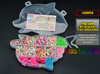 Pop đính cườm cô gái đồ chơi sáng tạo 200-400 viên thuốc lưu trữ Đồ Trang Sức box POP phong cách DIY Bracelet và vòng cổ Cô Gái đồ chơi giáo dục sớm
