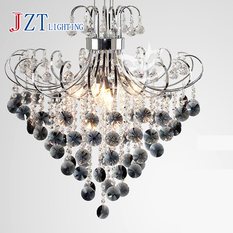 M Modern Stainless Steel Purple Crystal Light Restaurant Luxury 6 Head Dia40/50/60cm Transparent Pendant Lamp For Living Room|pendant lamp|lamps for living room|lighting restaurants - title=