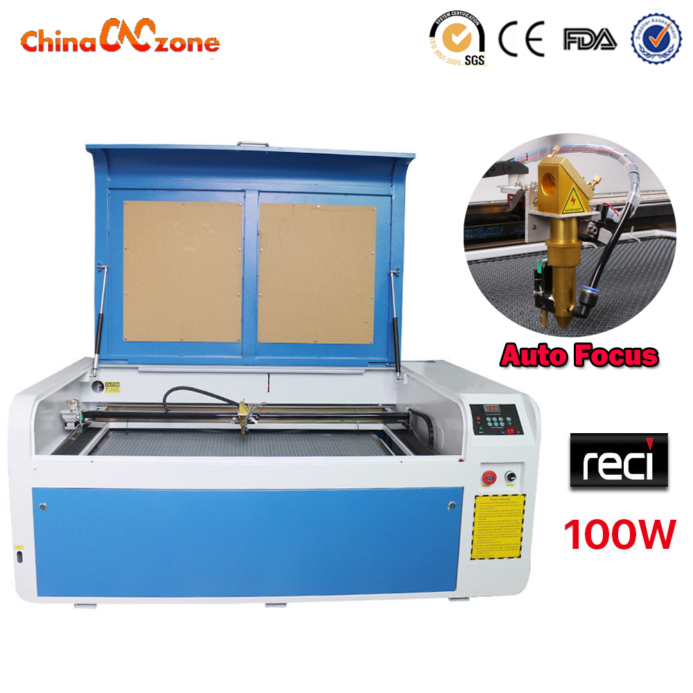 RECI 100W Co2 USB Laser Cutter/Engraver Machine Working Size 1000*600 CNC Laser Tube Laser Engraving Machine Water Cooling hand phone case engraving machine laser co2 engraving machine with beijing reci laser tube