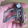 Нержавеющая сталь мужской целомудрие устройство пениса блокировка с уретры звук петух кольца зондирования секс игрушки cock cage секс игрушки для человек