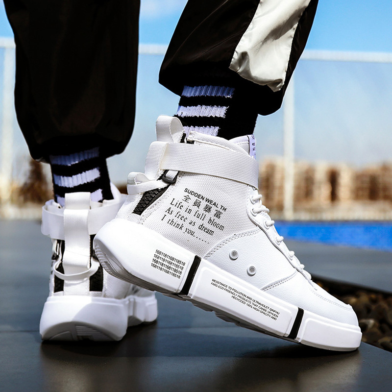 Sneakers Men Shoes High Top Trainers