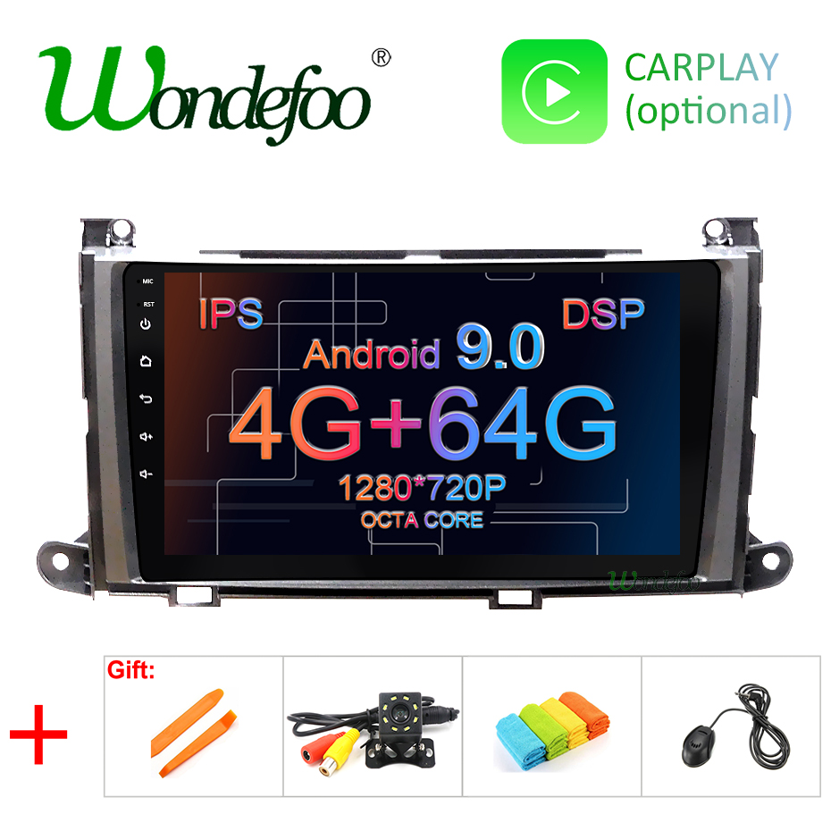 DSP IPS screen 4G RAM 64G ROM Android 9 0 Car GPS for Toyota Sienna radio
