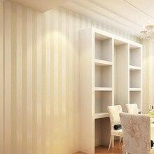Modern Elegant Strip Wallpaper Creamy White Beige Stripe Wallpapers