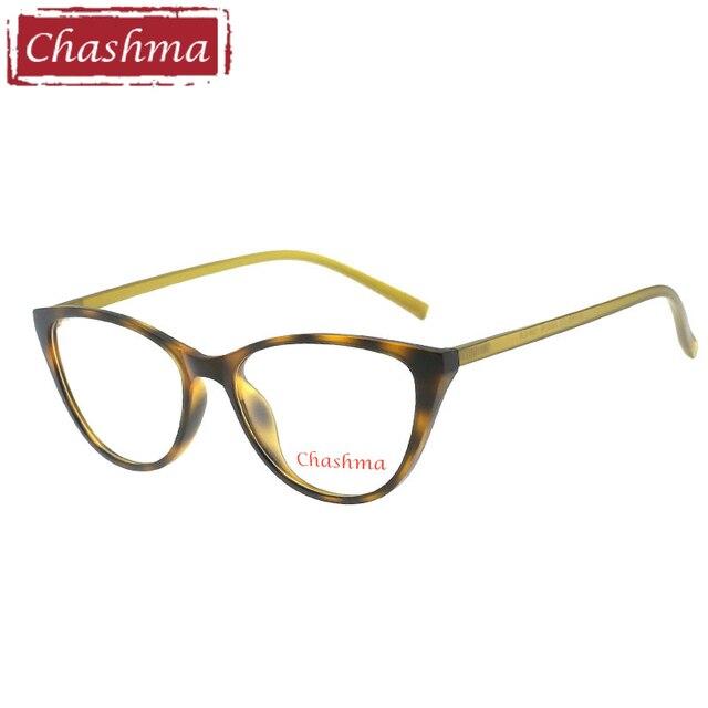 796cc0b71ba Chashma Brand Cat Eye TR 90 Prescription Glasses Gafas Mujer Quality Alloy Frames  Light Eyeglasses Women Semi Rimmed Occhiali