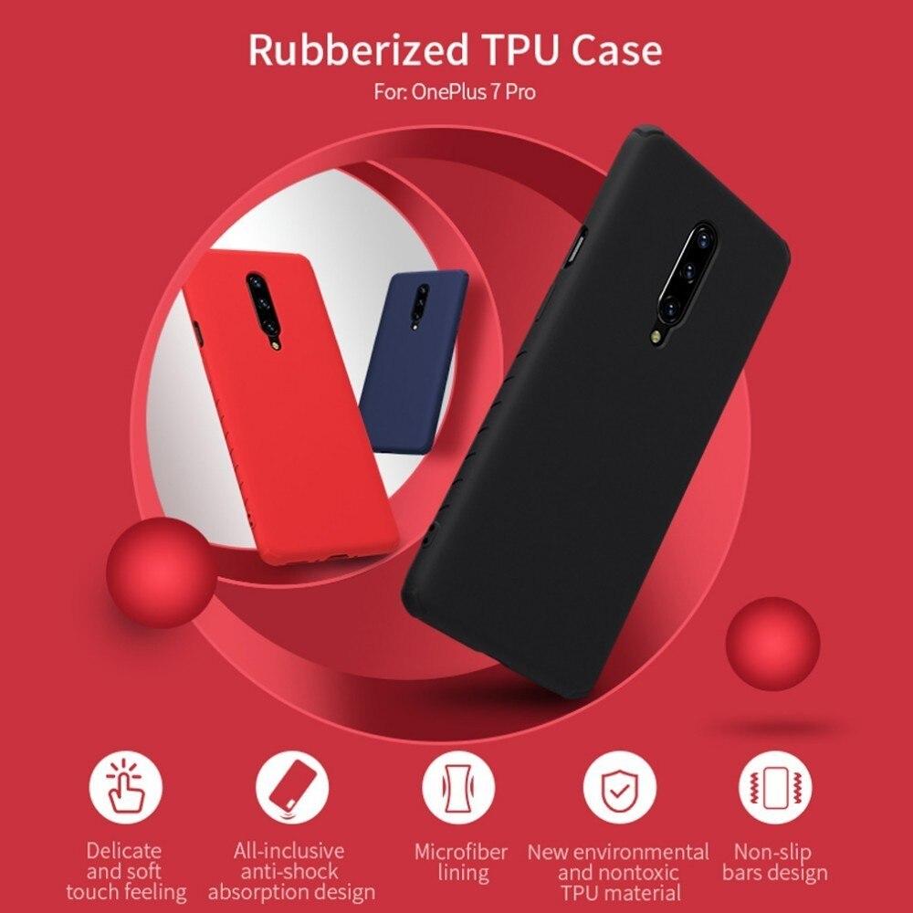 Étui de protection en caoutchouc NILLKIN pour OnePlus 7 Pro sac de téléphone antichoc en Silicone liquide souple mince