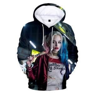 Image 2 - FrdunTommy haha joker und Harley Quinn 3D Drucken Mit Kapuze Männer/frauen Hip Hop Lustige Herbst Streetwear Hoodies Für Paare kleidung 4XL