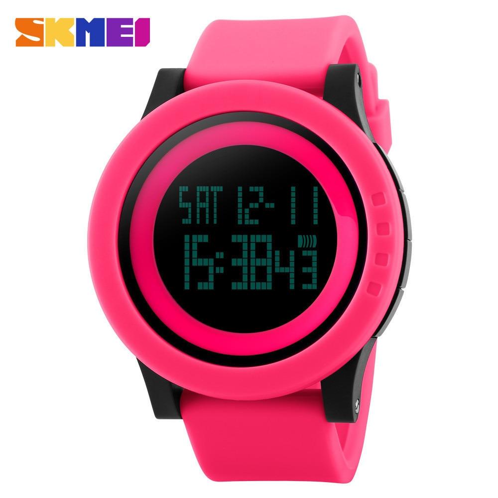 Top Pārdod SKMEI Modes ikdienas pulksteņi Sieviešu sporta pulksteņi Ūdensnecaurlaidīgs LED digitālais pulkstenis Sieviešu rokas pulksteņi Sieviešu rokas pulkstenis