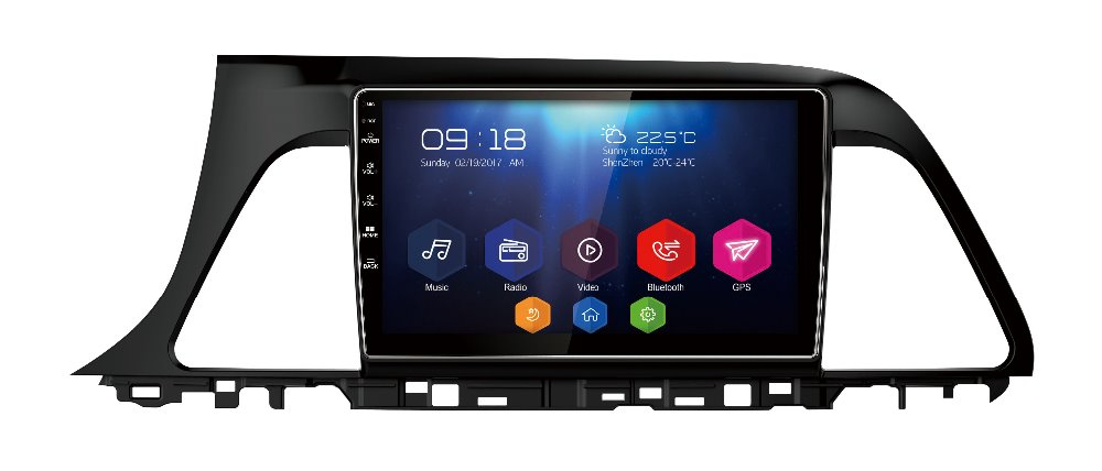 otojeta big car DVD player radio headunit stereo for Hyundai Sonata 9 2016 audio tape recorder android 7.1.7 gps navi auto media