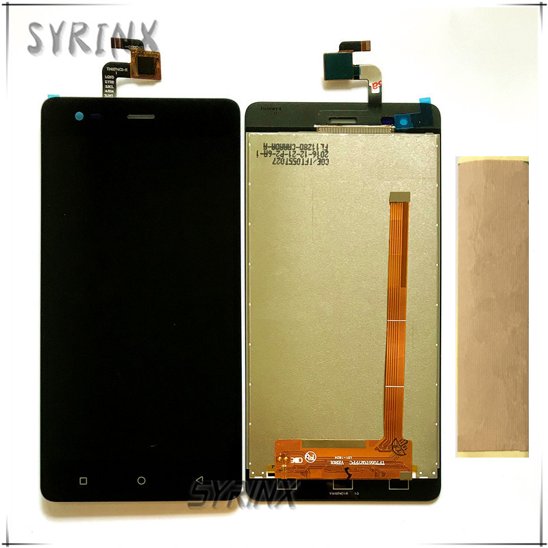 Syrinx With Tape Moible Phone LCD Display For Tele2 Maxi Plus  Touch   LCD Screen Assembly With Front Glass ReplacementMobile Phone  LCD Screens