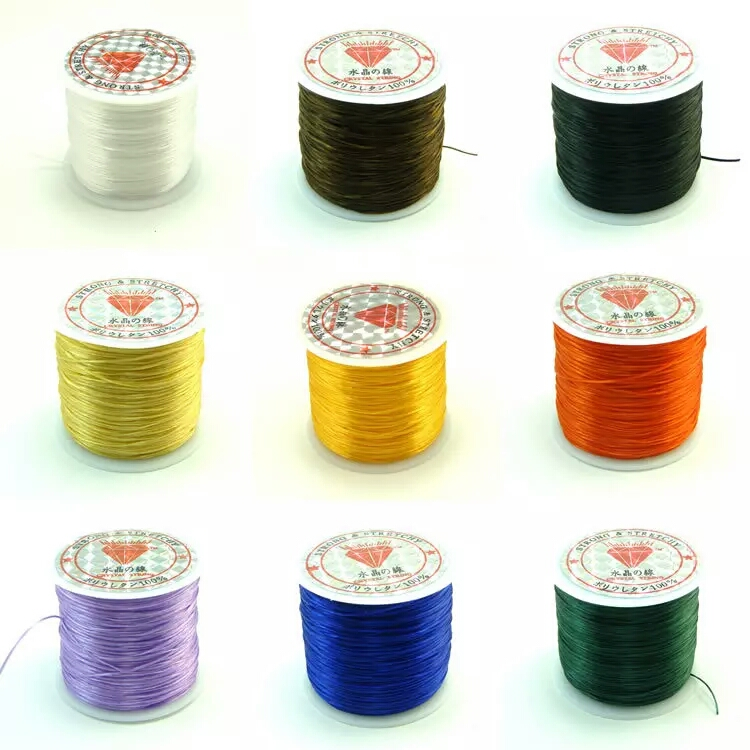 60M/Roll 0.5 MM Colorful Stretchy Elastic Rope Cord Crystal String For Jewelry Making Beading Bracelet Wire Fishing Thread Rope