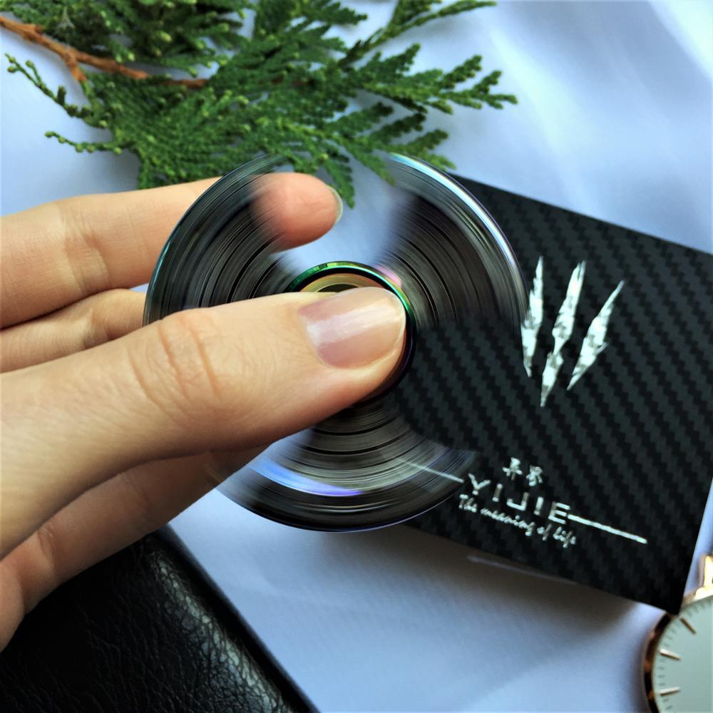 100% Positivo Étnico Tri Fidget Spinner Beyblade de Metal de Acero - Juguetes clásicos - foto 4