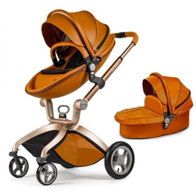 Orange Baby Stroller Travel Systems