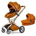 Mãe Hot New Couro Chegada Carrinho de Bebê Ovo Forma de Carro Do Bebê de Quatro Rodas Carrinho de Bebê Carrinho De Bebê Marrom