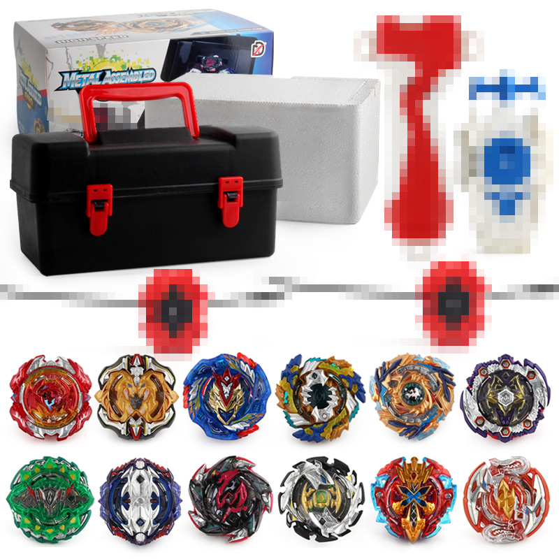 12 pièces/ensemble Style Beyblade métal Fusion Beyblade Set boîte à outils de stockage toupie rafale Bey lame Bayblade jouets pour enfants garçon