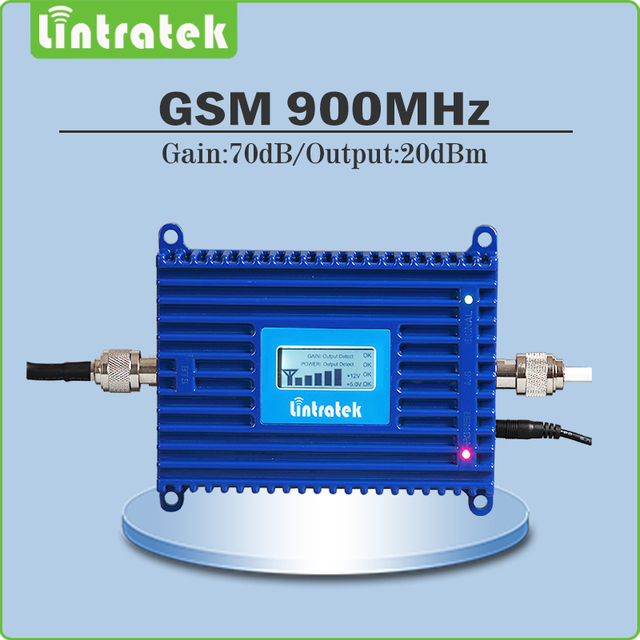 gsm repeater 900mhz cellular signal booster Gain 70dB repetidor de sinal celular GSM 900Mhz Amplifier/Repeater with LCD Display