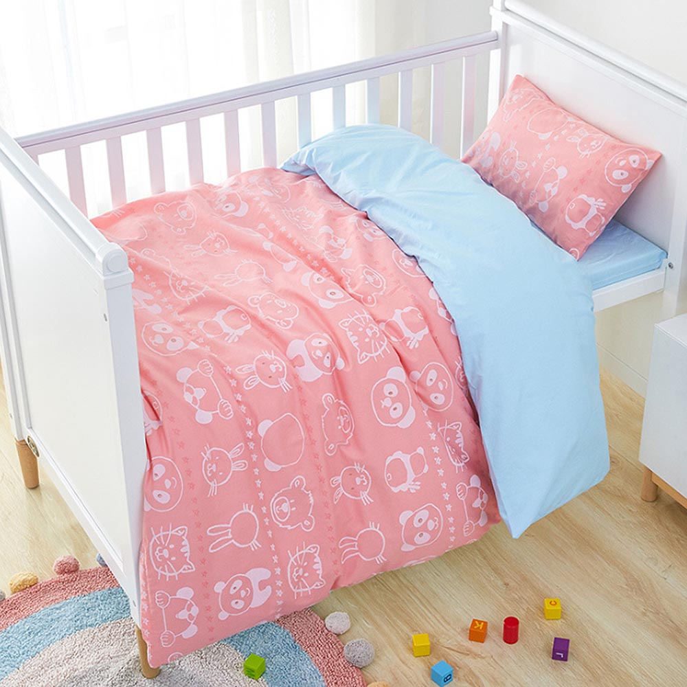 Baby Bedding Set Including Duvet Cover Pillowcase Bed Sheet Pure Cotton Baby Linen Baby Crib Set For Both Girl And Boy