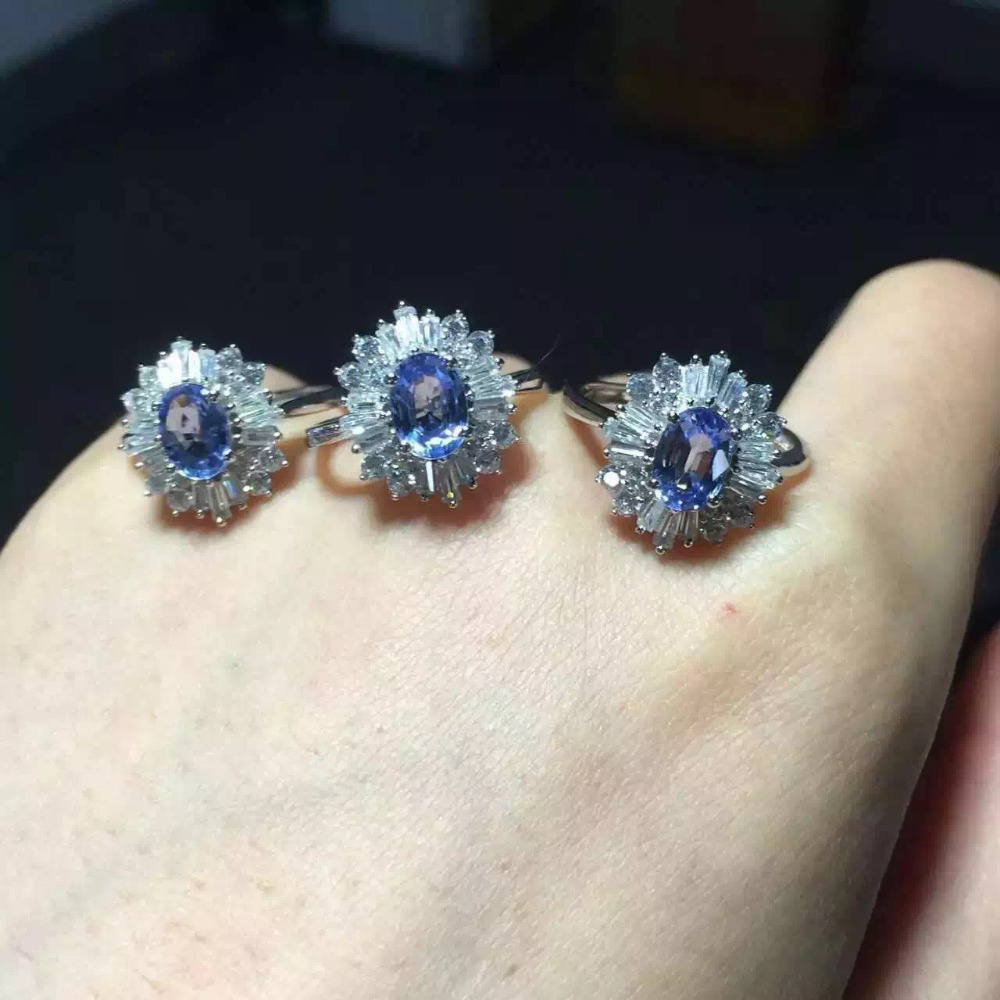Natural blue tanzanite Ring Natural gemstone ring 925 sterling silver trendy luxurious big Sunflower Flowers women party Jewelry flowers mexican sunflower motorola droid 2 skinit skin