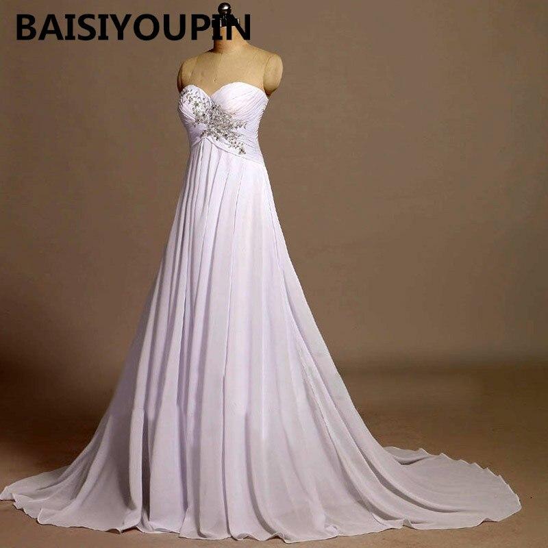 Abiti Da Sera Lunghi.Dress Evening Dresses 2020 Abiti Da Sera Lunghi White Chiffon Long