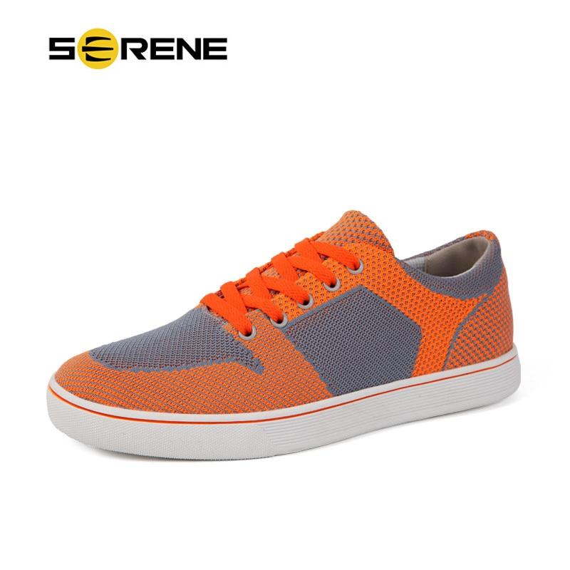orange Légère Hommes Belle Tissu Blue Mode up Couleur Printemps Respirant Occasionnels Dentelle Orange absorbant Bleu Maille Sueur Chaussures OXnwP80k