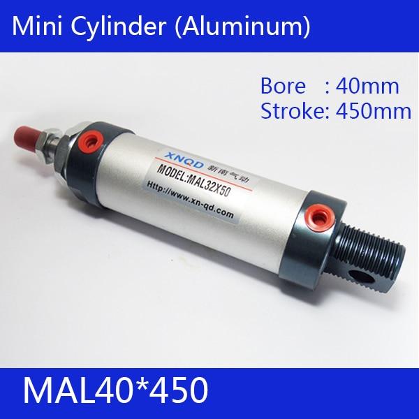 ФОТО Free shipping barrel 40mm Bore450mm Stroke  MAL40*450 Aluminum alloy mini cylinder Pneumatic Air Cylinder MAL40-450