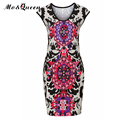 Tribal Print Women Summer Dress 2017 New Fashion Tank Pencil Dresses Women European Short Stretch Bodycon Dress Women High Waist