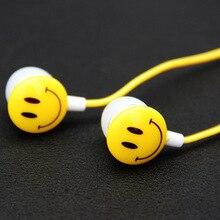 NEW Lovely Christmas Girl Earphone Smile Face Design 3.5mm Wired Earplugs Music For Smartphone MP3 Birthday Gift