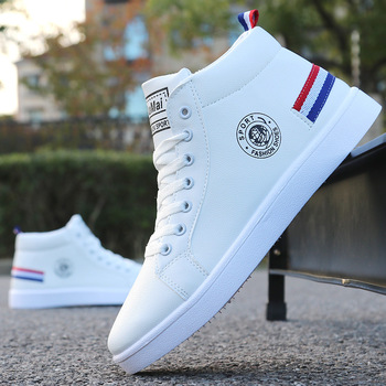 Men's Skateboarding Shoes High Top Sneakers  Breathable White Sports Shoes Students Shoes Street Walking Shoes Chaussure Homme men s skateboarding shoes high top sneakers breathable white sports shoes students shoes street walking shoes chaussure homme m2