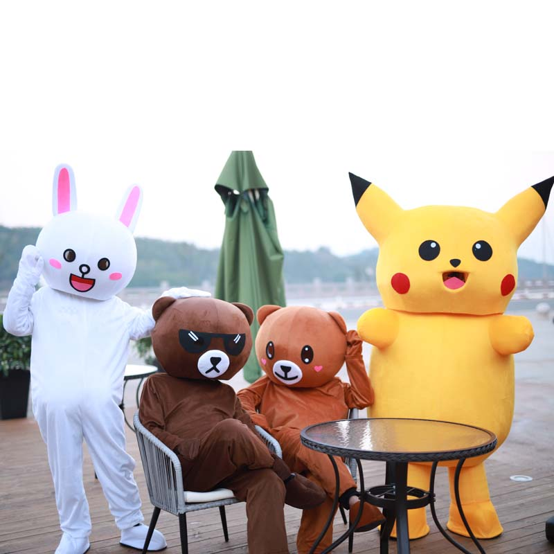 Brown Bear Kani Rabbit Mascot Costumes Cosplay Clothes Easter Christmas Halloween Party Fancy Dress Toys Anime