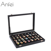 ANFEI Jewelry box jewelry ring display box accessories receive box rings earrings stud earrings jewelry organizer holder A27