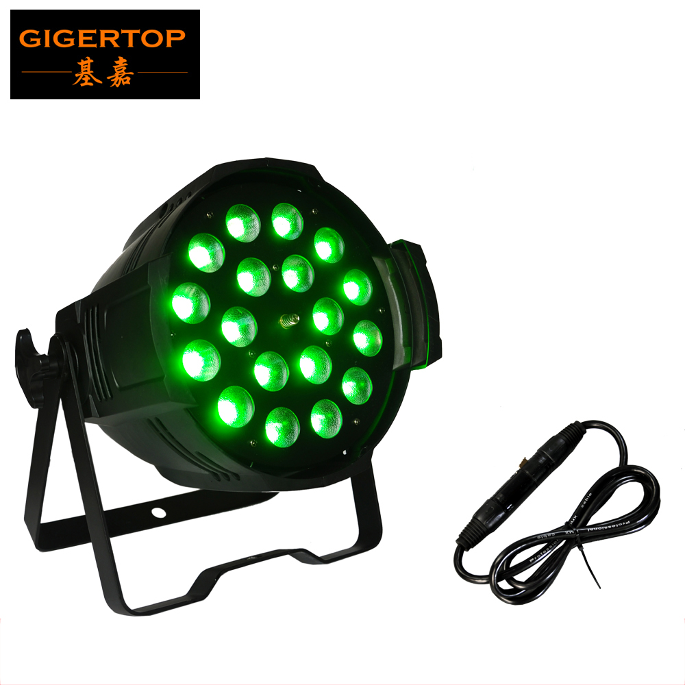 TIPTOP TP-P80A 18x18W Stage Led Par Light Zoom Function 10-60 Degree 7/11CH Smooth Dimmer RGBWA Purple 6 Color Changing CE Rohs