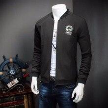 9XL 8XL 6XL New Men s Jacket Spring Business Casual Mandarin Collar Zipper Solid Color Thin