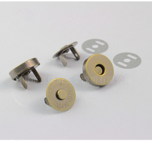 Free Shipping 20 Sets/lot 14*3.5mm Antique Bronze Tone Magnetic Snaps Bag Purse Clasp Metal Button Fastener Accessories