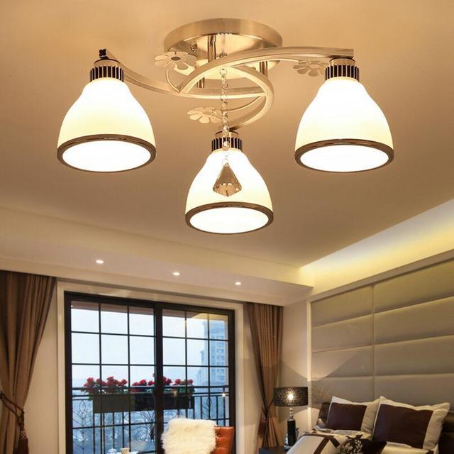 Plafoniere moderne Per Soggiorno 3 luci 5 lampade da Incasso a ...