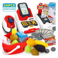 Children Supermarket Cash Register Simulation Toys Baby Early Education Role Play Cashier Calculator Toy