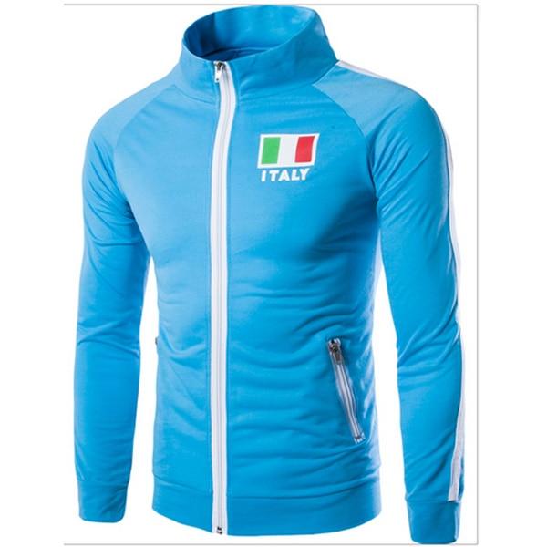 Free Shipping Men Fashion Jacket High Quality Leisure Jacket Flag Printing Desig